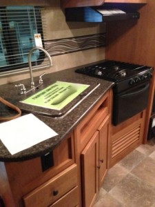 shadow cruiser travel trailer kitchen