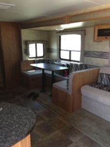 shadow cruiser camper travel trailer inside view